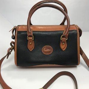 Dooney & Bourke vtg mini satchel w crossbody strap